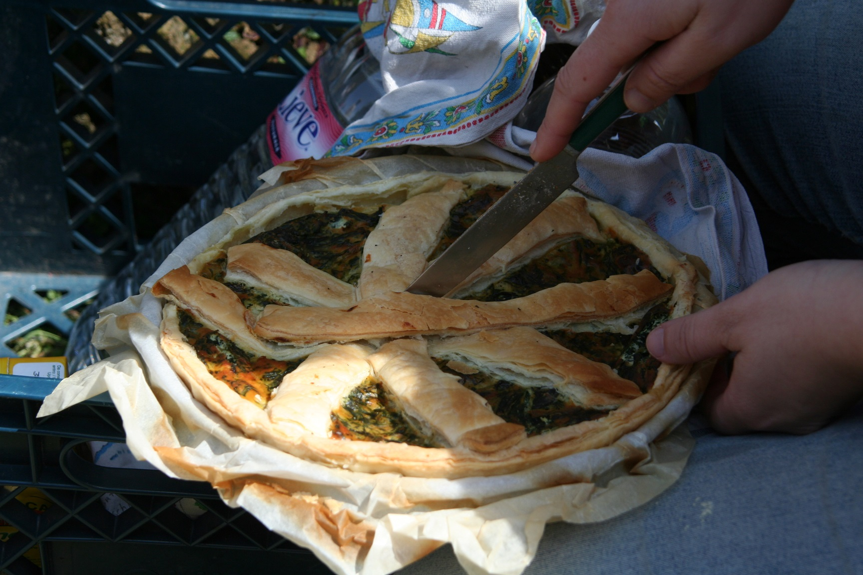 Spinach and Chicory pie (Italian 'Torta rutica')
